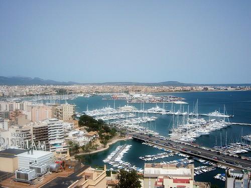 Paseo marítimo en Palma, Mallorca.