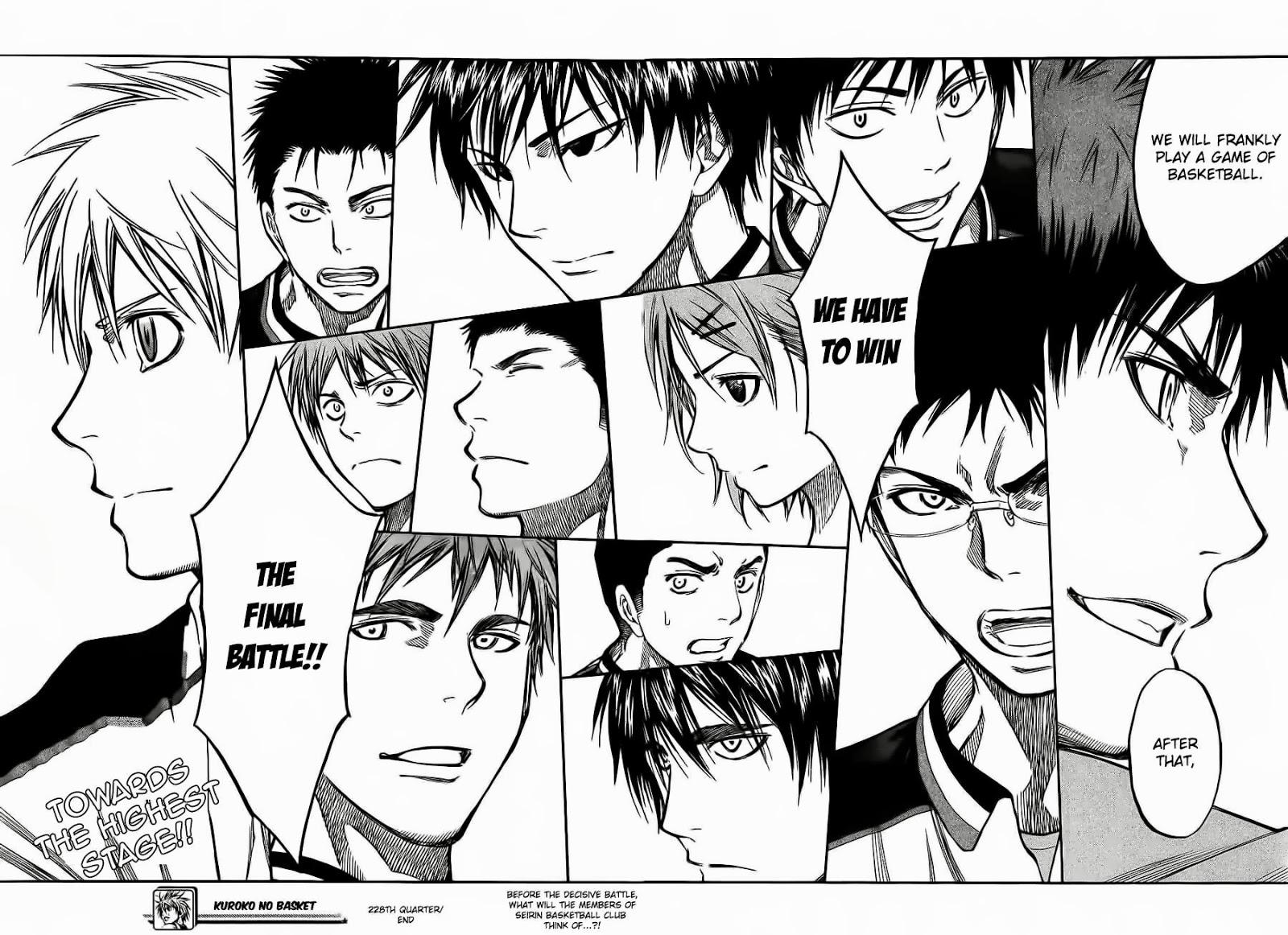Kuroko no Basket Manga Chapter 228 - Image 18-19