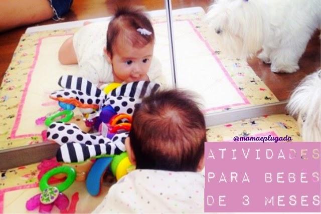 Atividades e brincadeiras para bebês de 3 meses