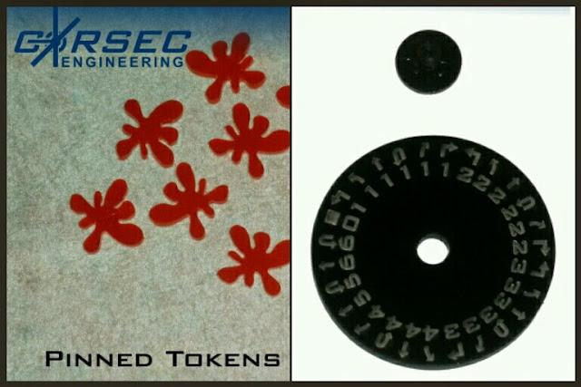 diales y tokens de daño Corsec Engineering