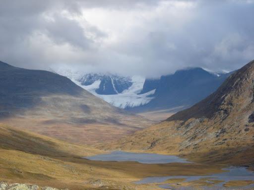 Sensationelle Landschaft auf dem Nordkalottleden