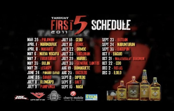 tanduay_first_five_2011_TOURS, poster, picture
