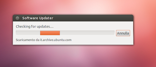Ubuntu 12.10 - Software Updater - verifica aggiornamenti