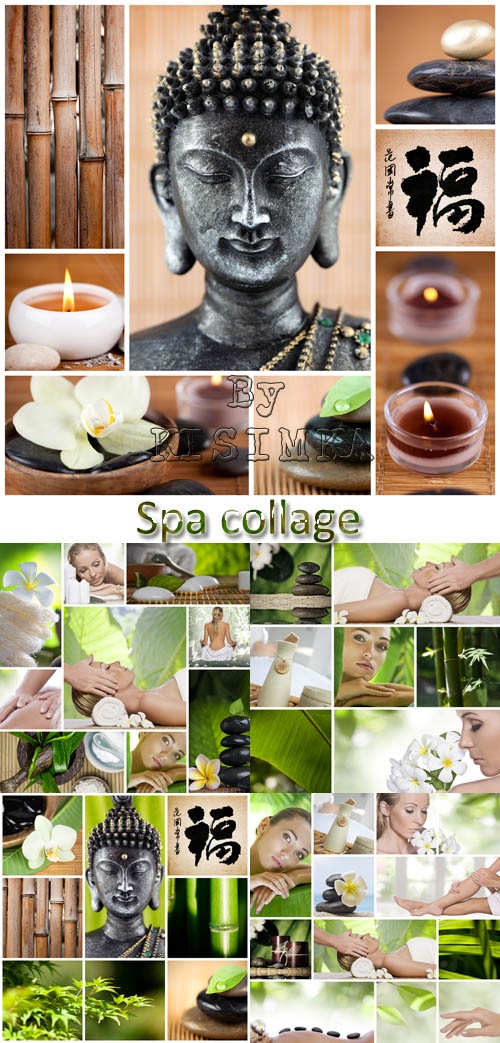 Stock Photo: Spa collage 3