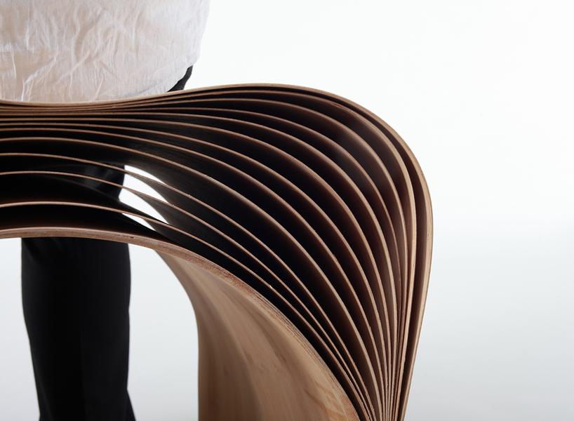 *彈性彎曲竹凳子:設計師陳旻傳統美學精湛呈現! 2