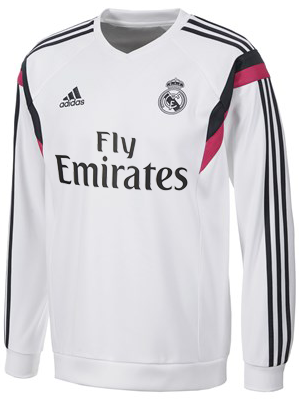 Sweater Pre Match Real Madrid White 2014-2015