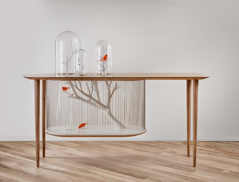 *景觀鳥籠書桌:法國藝術家Grégroire de Laforrest愜意的結合 1