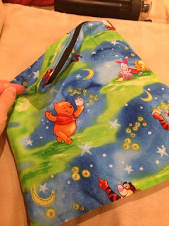 diy wet bag with an invisible zipper that I made for a baby shower