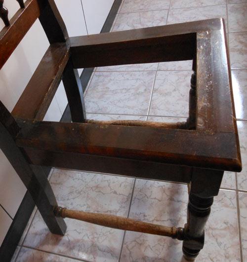 como restaurar cadeira