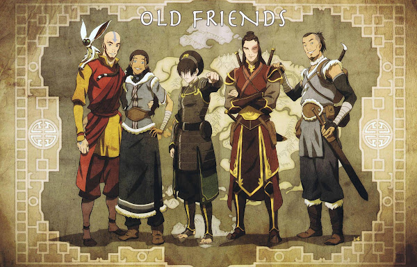 avatar Old friends toph aang katara sokka zuko