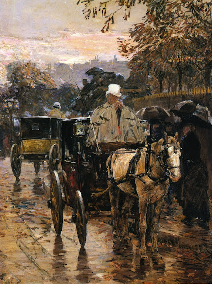 Childe Hassam - Hackney Carriage, Rue Bonaparte