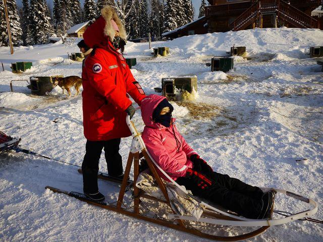 達人帶路-極光小屋-狗拉雪橇