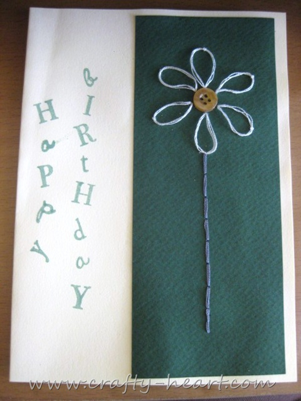 handmade birthday cards for women. Handmade birthday card by