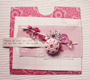 Скрап-конверт. Розовый фильтр