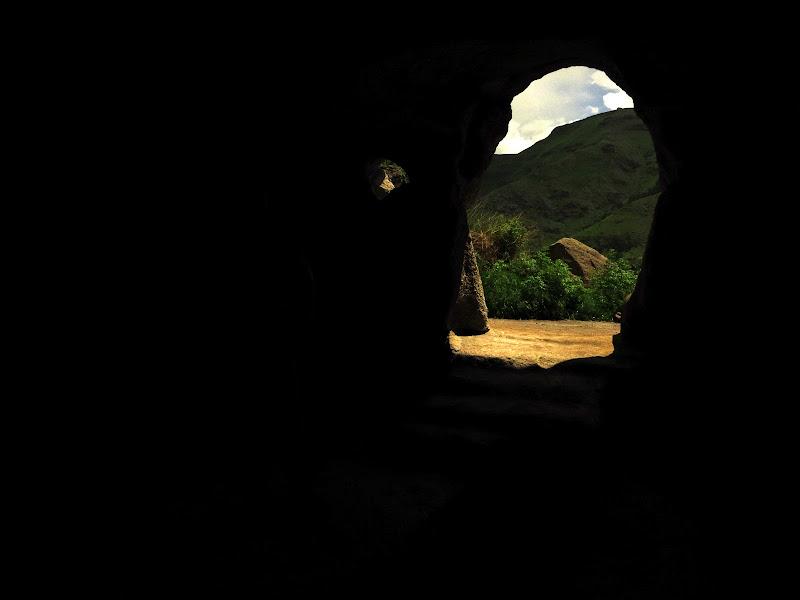 Hiding out inside a cave