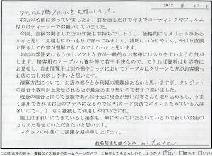 ビーパックスへのクチコミ/お客様の声:tetsu 様(京都市西京区)/VW GOLF GTI