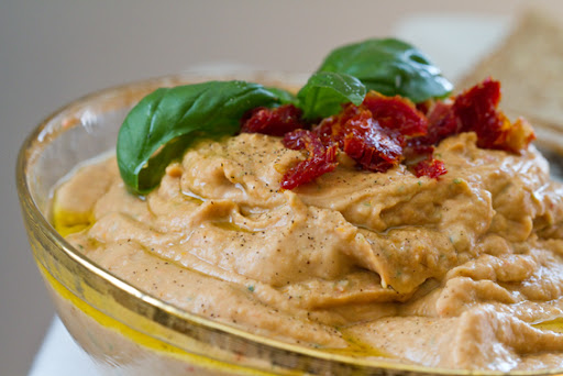 Sun-Dried Tomato Basil Hummus Recipe