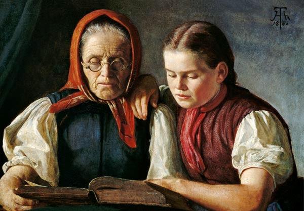 Hans Thoma - Mutter und Schwester des Künstlers