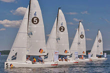 J/70s sailing on German Lakes in sailing league