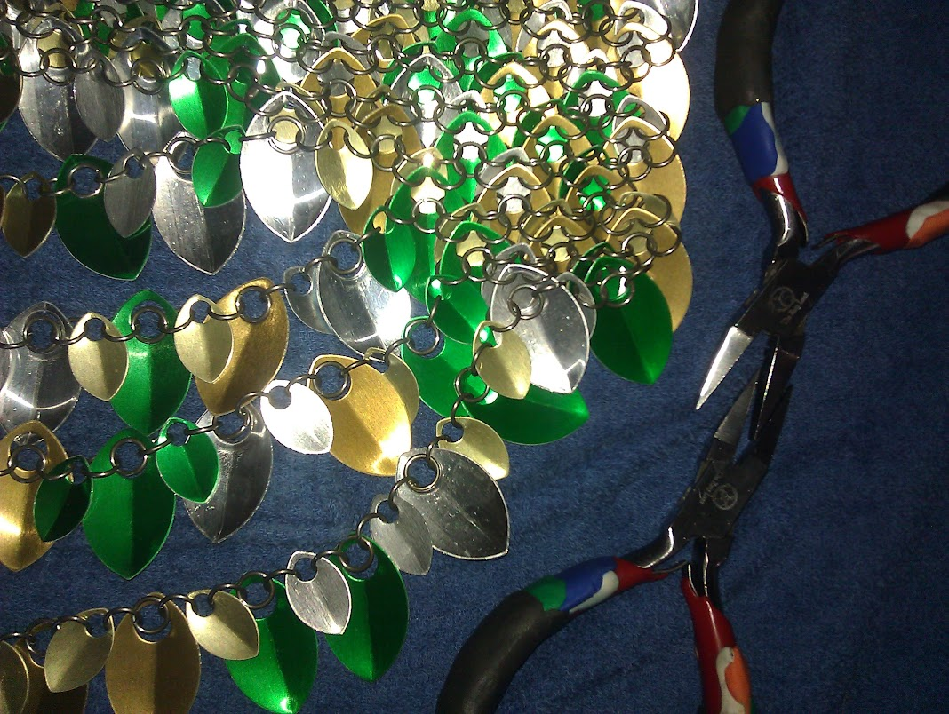In-progress view of feathermaille