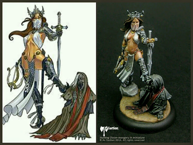 Forsaken Princess - Witch Hunter Ax Faction Miniatures