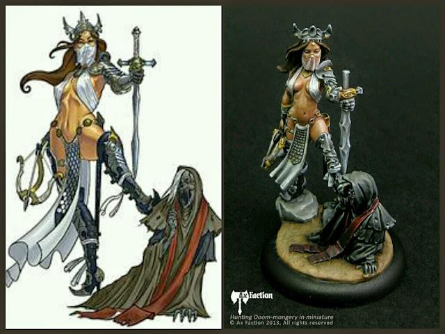 Forsaken Princess - Witch Hunter Ax Faction Miniatures