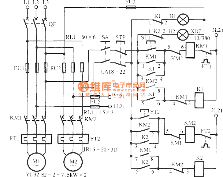 Automatically Control Water Pump Motor Scheme Electrice Circuit