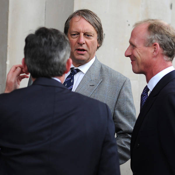 Giles Clarke attends the memorial Service for Tony Greig, in London, on June 24, 2013.