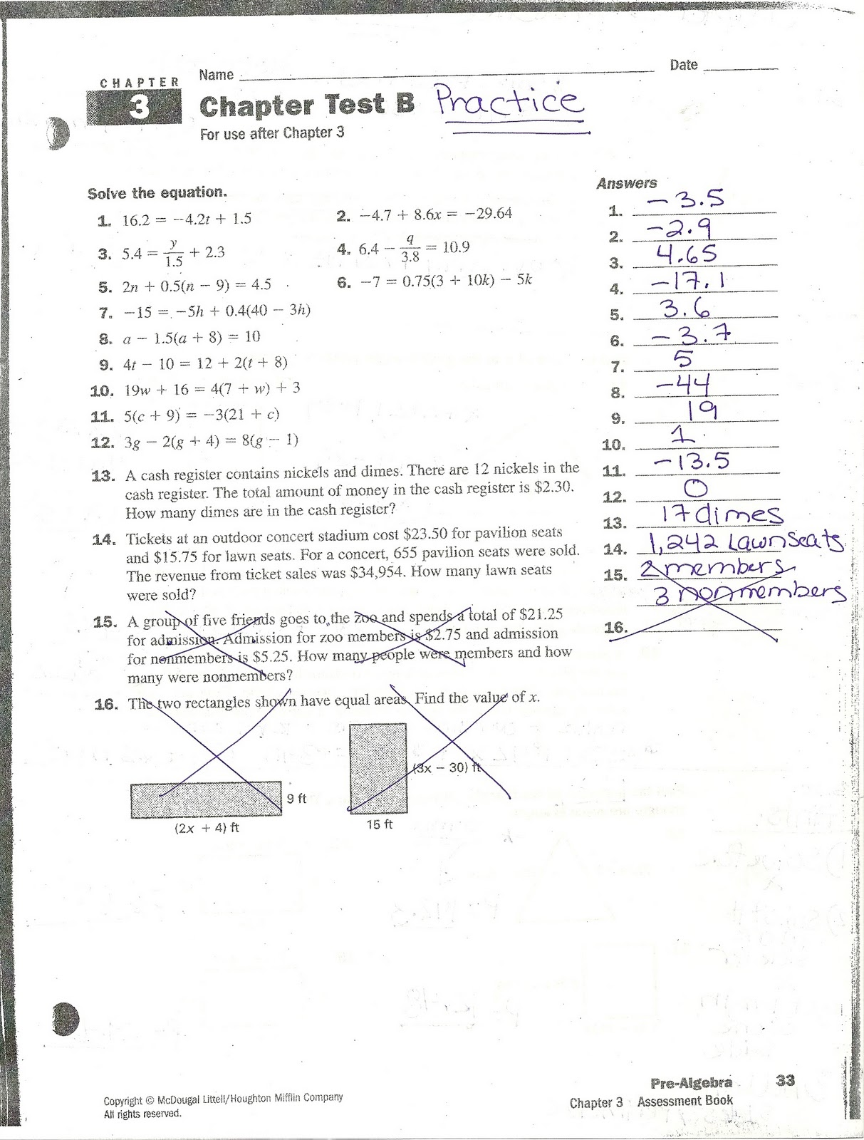 Worksheets Holt Mcdougal Algebra 2 Worksheet Answers mrs whites math class chapter 3 practice problems answers answers