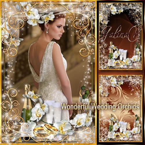 Романтическая рамка — Прекрасные свадебные орхидеи