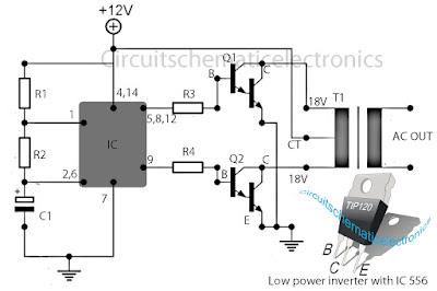 Secret Diagram Inverter 12V to 115V with 25 W power output