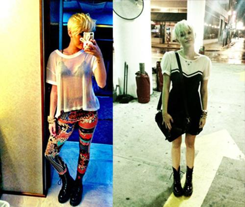 Miley Cyrus officially has an obsession with her new hair.  She won't stop taking pics of herself now. Great.