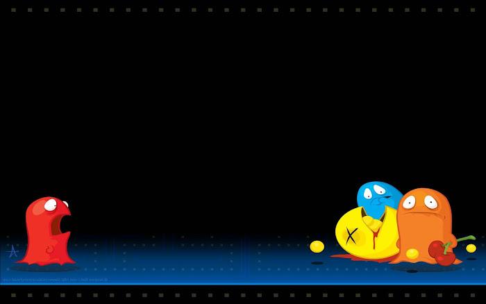 Hình nền đa phong cách về game Pacman - Ảnh 11