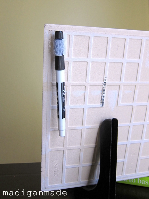 how to make dry erase marker stay