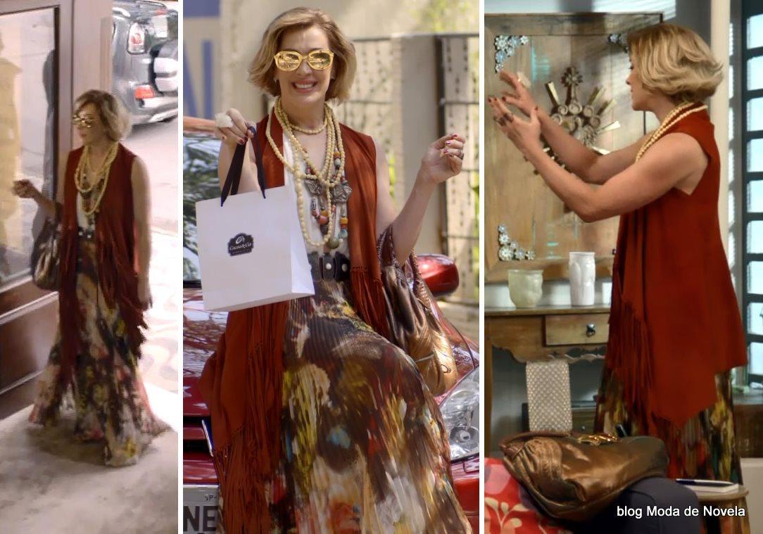 moda da novela Alto Astral, look da Samantha dia 2 de dezembro