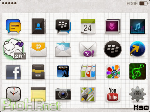 Custom icon Theme for BlackBerry Preview 6