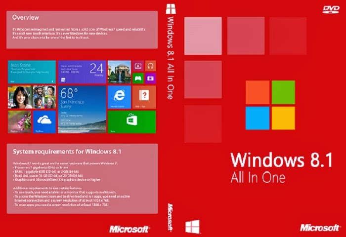Free Download Latest Version of  Windows 8.1 AIO x64 x86 10-in-1 EN-US Spring 2014 DaRT.8.1 Pre-Activated Operating System Software at Alldownloads4u.Com