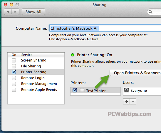 instalar impresora compartida windows en mac