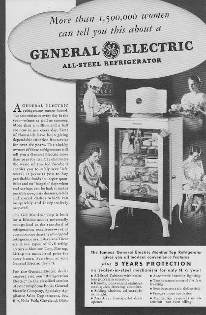 1934 General Electric Refrigerators