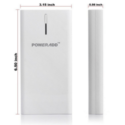 Poweradd™ Pilot X6 High Capacity Dual-Port Portable Charger Backup External Battery Pack Power Bank with LED Flashlight - 20800mAh - image