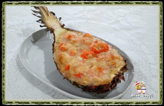 Camarão na casca de abacaxi 2