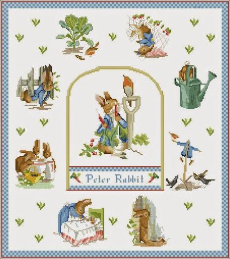 Rabbit Samplercross stitch pattern