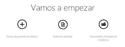 Office Online creacion de plantillas