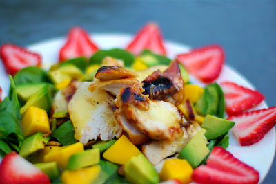 Within the kitchen mango avocado chicken salad with maple citrus 1 avocado 1 full chicken breast cooked and sliced 12c sliced strawberries 14c roasted unsalted pistachios 5 c baby spinach leaves washed and dried forumfinder Choice Image