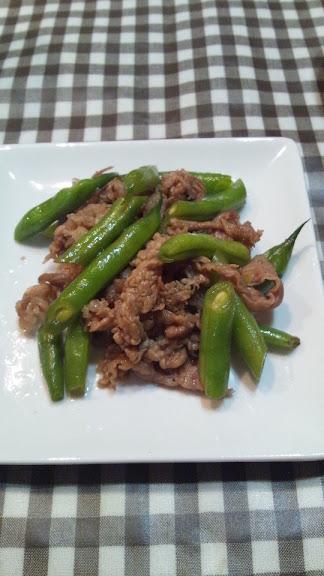 牛肉といんげんの炒め物