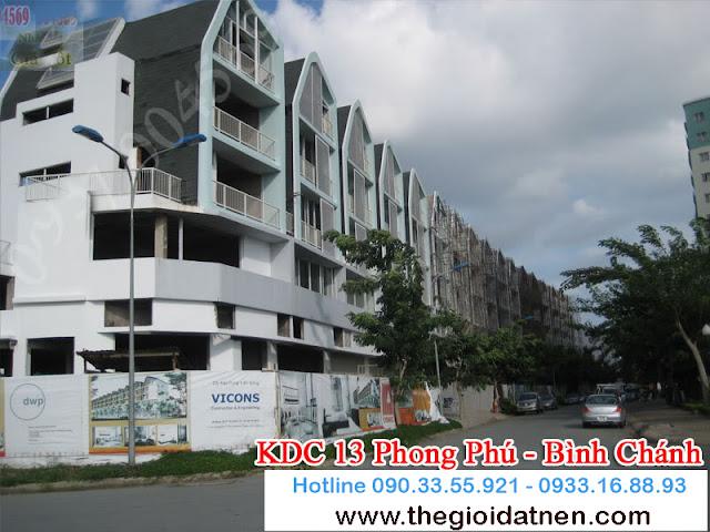 KDC 13   08 Bán gấp đất nền nhà phố KDC 13C, Bình Chánh giá 14.5 tr/m2
