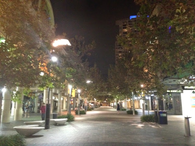 Murray St Mall, Perth at 7pm