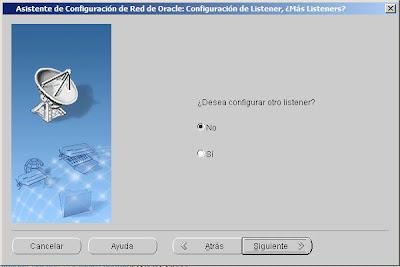 Crear listener en Oracle 10g y Windows Server 2008 R2