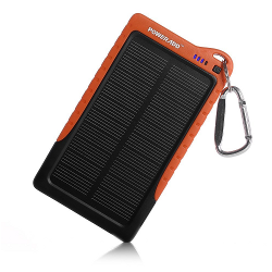 Poweradd™ Apollo 7200mAh Portable USB Charger Power Bank, Constructed with a Solar Panel for Emergency Charging. For iPhone 6, iPhone 6 Plus - 7200mAh - image