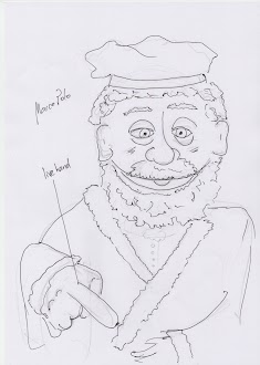 Initial sketch of Marco Polo